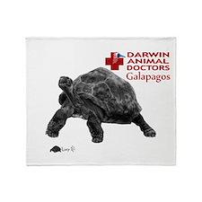 Galapagos Giant Tortoise Throw Blanket