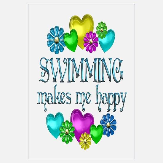 Swimming Happiness Wall Art