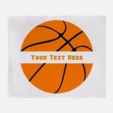Customize Basketball Name Throw Blanket