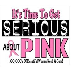Get Serious About PINK 4 Wall Art Canvas Art