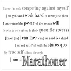 I Am a Marathoner Wall Art Canvas Art