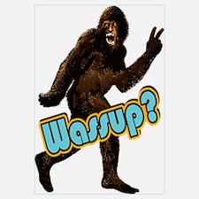 Bigfoot Yeti Sasquatch Wassup Wall Art