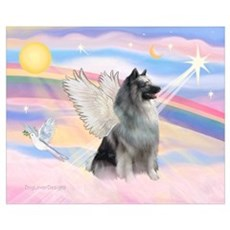Angel/Keeshond Wall Art Canvas Art
