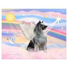 Angel/Keeshond Wall Art Poster