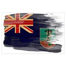Montserrat Flag Wall Art Poster