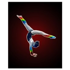 Rainbow Gymnast Wall Art Poster