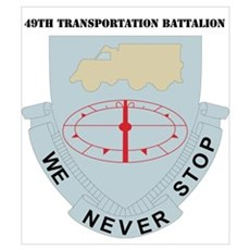 DUI - 49th Transportation Bn with Text Mini Poster Poster