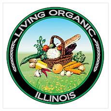 Living Organic Illinois Wall Art Poster