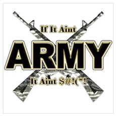 US Army If It Aint Army Wall Art Poster