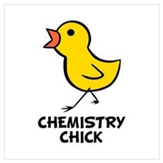 Chemistry Chick Wall Art Framed Print