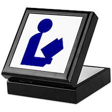 Blue Tinfoil Library Logo Keepsake Box