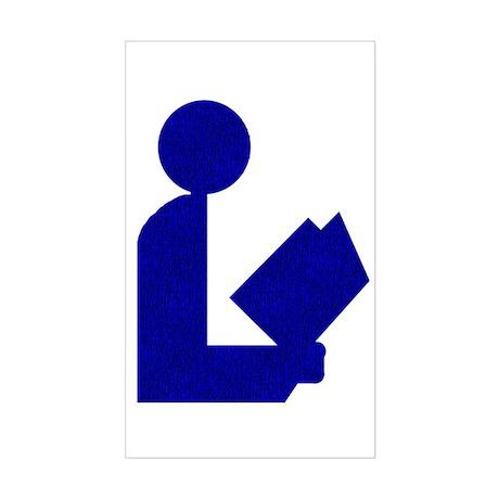 Blue Tinfoil Library Logo Rectangle Sticker