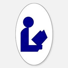 Blue Tinfoil Library Logo Oval Decal