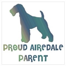 Proud Airedale Parent Wall Art Poster