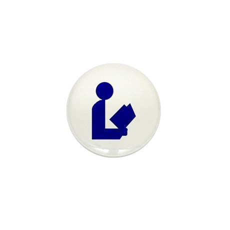 Blue Tinfoil Library Logo Mini Button