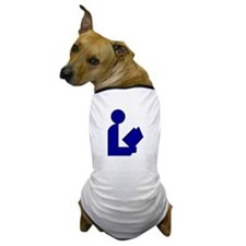 Blue Tinfoil Library Logo Dog T-Shirt