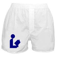 Blue Tinfoil Library Logo Boxer Shorts