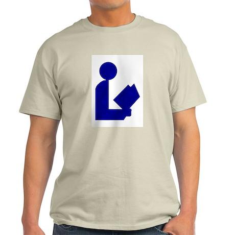 Blue Tinfoil Library Logo Ash Grey T-Shirt
