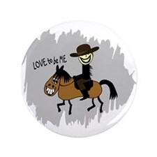 "HORSE AND GUY 3.5"" Button"