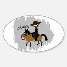 HORSE AND GUY Decal