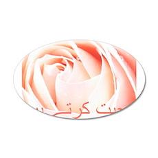 Urdu Love Rose 22x14 Oval Wall Peel