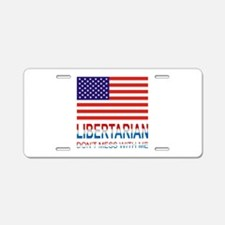 Libertarian Aluminum License Plate