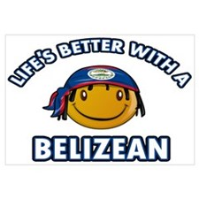 Life's better with a Belizean Wall Art