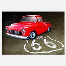 Route 66 Chevy Truck Wall Art