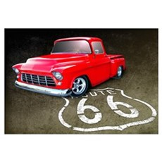 Route 66 Chevy Truck Wall Art Framed Print