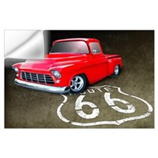 Route 66 Chevy Truck Wall Art Wall Decal