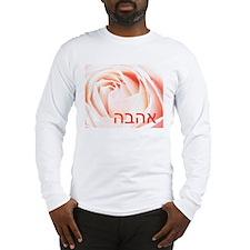 Hebrew Love Rose Long Sleeve T-Shirt