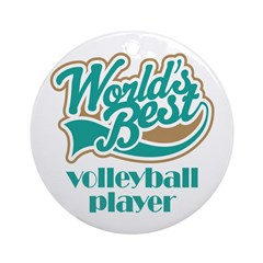 Volleyball Player Gift (World's Best) Ornament (Ro