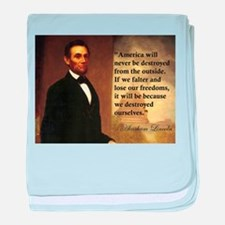Abe Lincoln Quote baby blanket