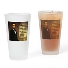 Abe Lincoln Quote Drinking Glass