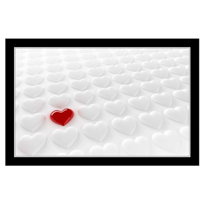 Valentine Heart Wall Art Poster