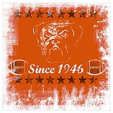 "Cleveland Football ""Since 1946"" Wall Art Poster"