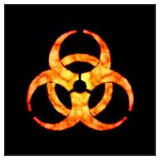 Orange Cloud Biohazard Wall Art Poster