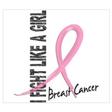 Fight Like A Girl Breast Cancer Wall Art Poster