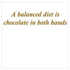Chocolate Diet Wall Art Poster