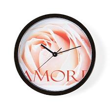 Amore Italian Love Rose Wall Clock