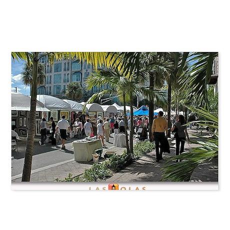 Las Olas Art Fair Print 1 Postcards (Package of 8)