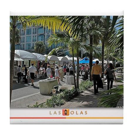 Las Olas Art Fair Print 1 Tile Coaster