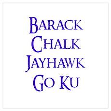 Barack Chalk Wall Art Poster