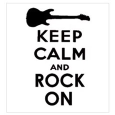 KEEP CALM AND ROCK ON Wall Art Canvas Art