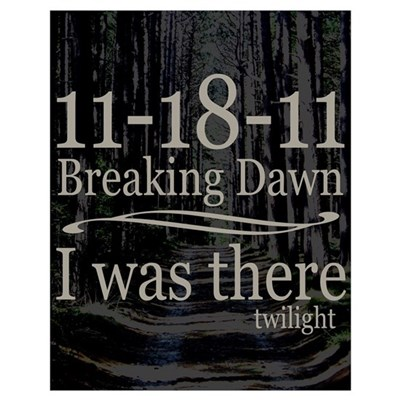 11-18-11 I Was There Breaking Wall Art Poster