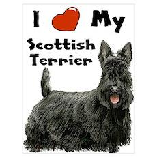 I Love My Scottish Terrier Wall Art Poster