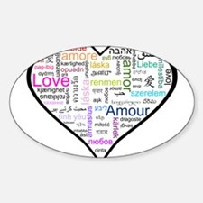 Heart Love in different langu Decal