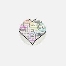 Heart Love in different langu Mini Button (10 pack
