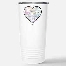 Heart Love in different langu Travel Mug