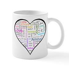 Heart Love in different langu Mug